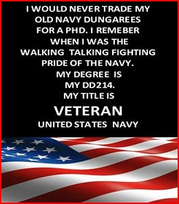 US Navy Veteran - Vietnam era